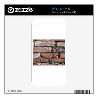 Old brick wall background iPhone 4S decal