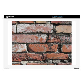 Old brick wall background laptop skins