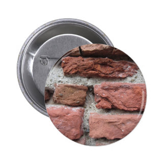 Old brick wall background pinback button