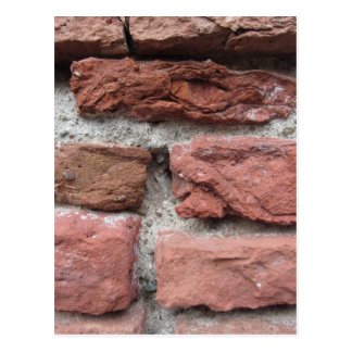 Old brick wall background postcard