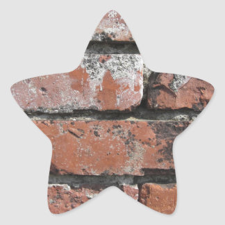 Old brick wall background star sticker
