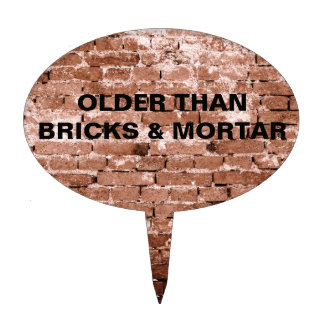 Old Brick Wall Cake Topper