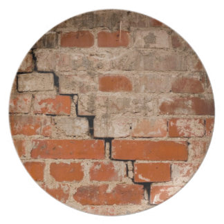 Old brick wall plate