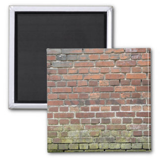 Old brick wall texture 2 inch square magnet