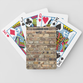 Old brick wall texture bicycle playing cards
