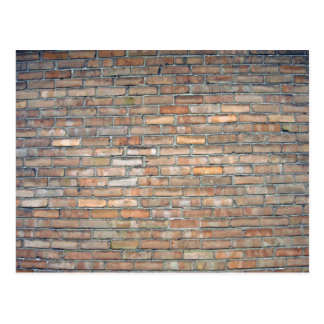 Old brick wall texture postcard