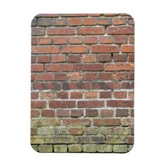 Old brick wall texture rectangular photo magnet