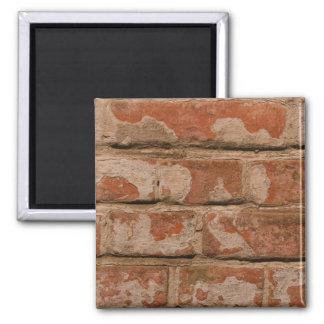 old bricks 2 inch square magnet