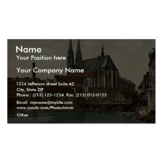 Old Bridge and St. Peter's Church, Gorlitz, Silesi Double-Sided Standard Business Cards (Pack Of 100)