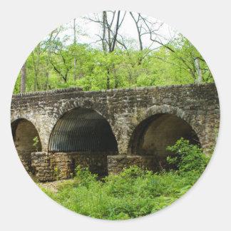 Old Bridge at Cuivre River Classic Round Sticker