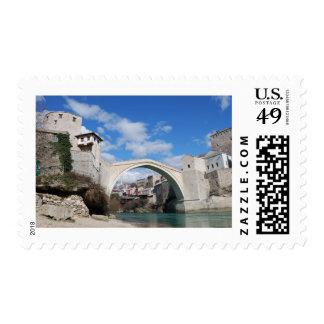 Old Bridge in Mostar Postage Stamps