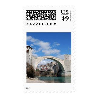Old Bridge in Mostar Postage Stamp