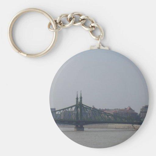 Old bridge on the Danube Basic Round Button Keychain