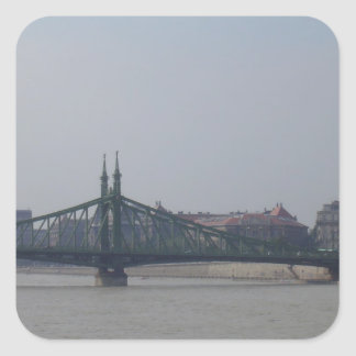 Old bridge on the Danube Square Sticker