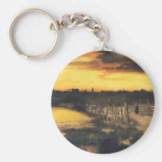 Old Bridge Over Hook Pond - 1907 Keychain