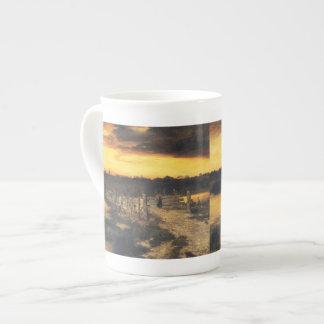 Old Bridge Over Hook Pond - Thomas Moran (1907) Tea Cup