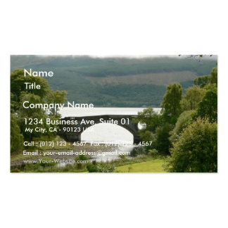 Old Bridge With Green Field In Front Of It Double-Sided Standard Business Cards (Pack Of 100)