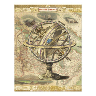 Old British America Explore Polar Bear Compass Map Letterhead