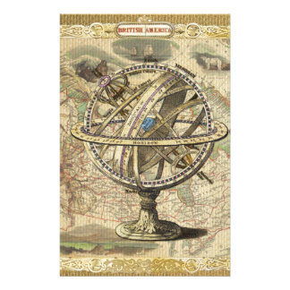 Old British America Explore Polar Bear Compass Map Stationery