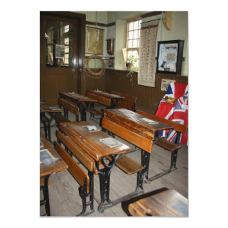 Old British School Classroom Invitation