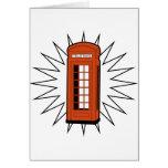 Old British Telephone Box Card