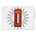 Old British Telephone Box Cards
