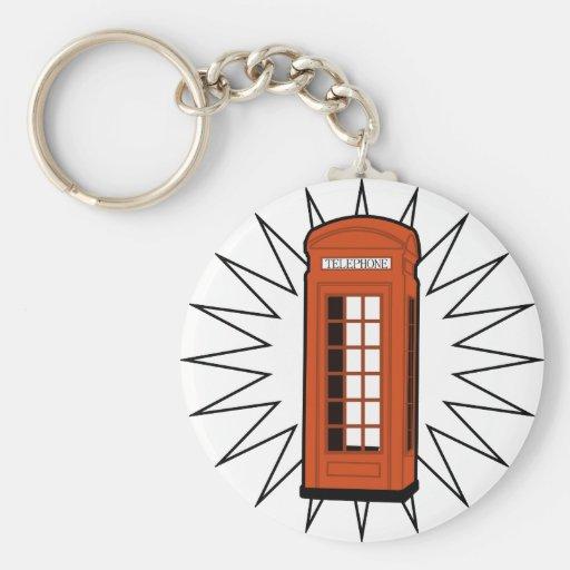Old British Telephone Box Keychain