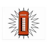 Old British Telephone Box Post Cards