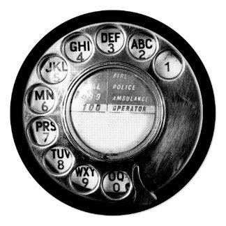Old British Telephone Dial Design Card