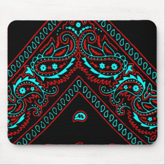 Old Brown Bandana 6 Mouse Pad