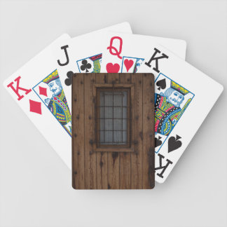 Old Brown Knotty Wooden Door Bicycle Playing Cards