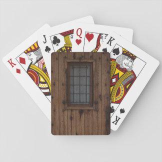 Old Brown Knotty Wooden Door Card Decks
