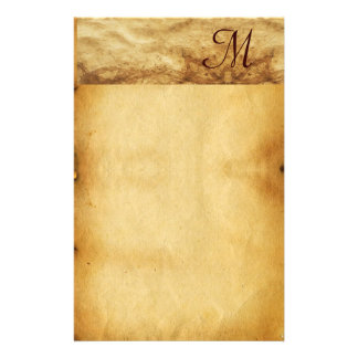 OLD BROWN PARCHMENT Monogram Stationery