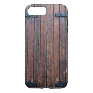 Old Brown Wood Doors With Black Iron Supports iPhone 7 Plus Case