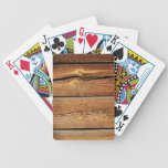 Old brown wooden wall design playing cards