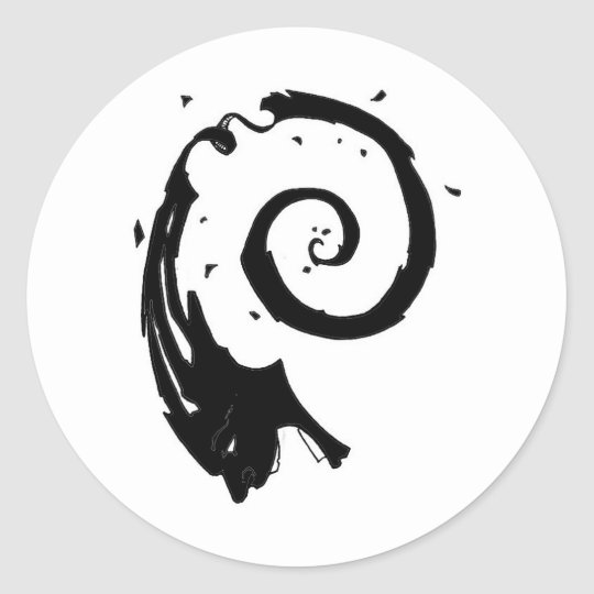 Old BSD Spyral Face Logo Classic Round Sticker