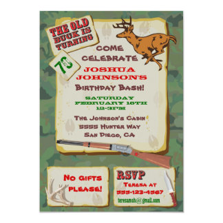 Deer Hunting Birthday Invitations Announcements Zazzle