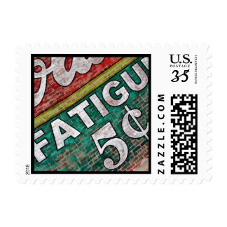 Old Building Brick Wall Graffiti-Postage Stamp