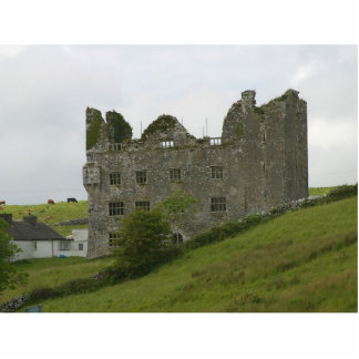 Old Building Castle On Green Hill Standing Photo Sculpture