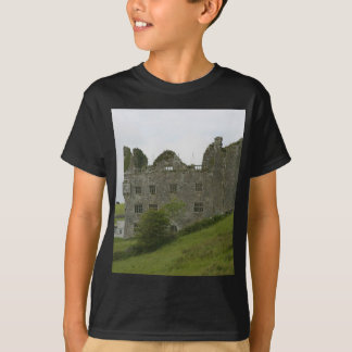 Old Building Castle On Green Hill T-Shirt