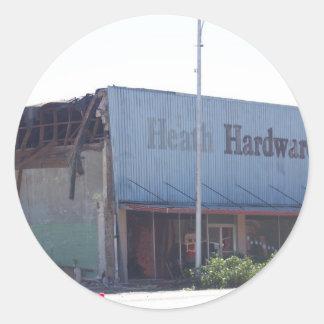 Old building in (Wetumka Ok) Classic Round Sticker
