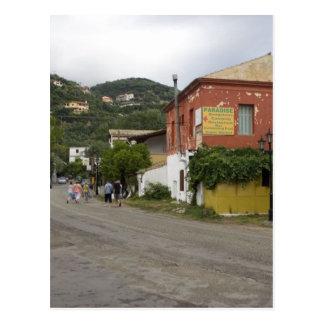 Old Building On The Crossroads In Ipsos On Corfu I Postcard