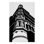 Old building print
