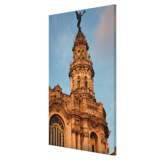 Old building Spire, Havana, Cuba Canvas Print