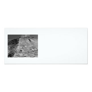 """Old building. Stone Wall and Sky. 4"""" X 9.25"""" Invitation Card"""