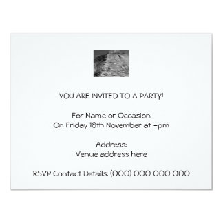 """Old building. Stone Wall and Sky. 4.25"""" X 5.5"""" Invitation Card"""