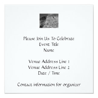 """Old building. Stone Wall and Sky. 5.25"""" Square Invitation Card"""