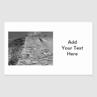 Old building. Stone Wall and Sky. Rectangular Sticker