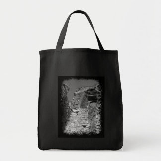 Old building. Stone Walls with Window. Canvas Bags