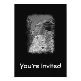 """Old building. Stone Walls with Window. 5"""" X 7"""" Invitation Card"""